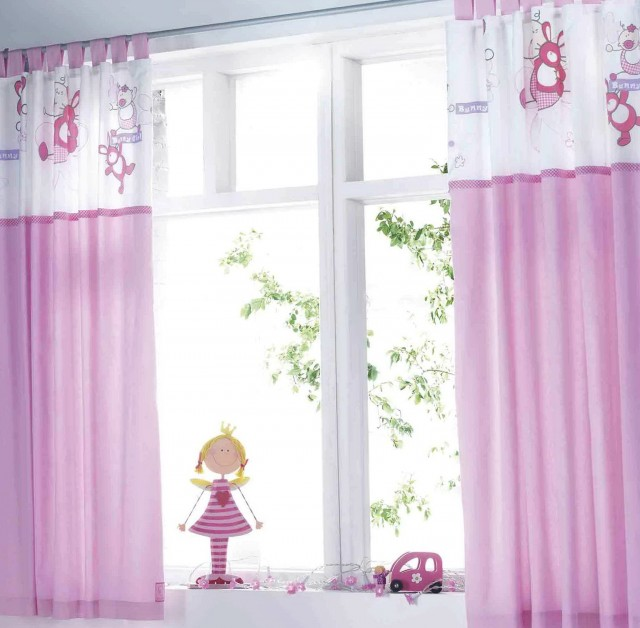 Pink Baby Room Curtains