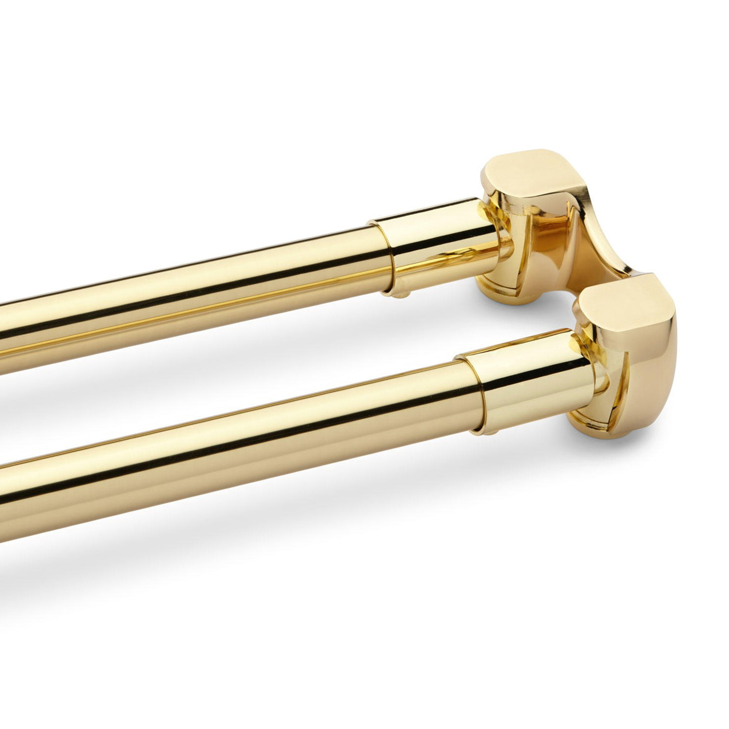 Polished Brass Curtain Rods