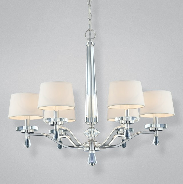 Polished Nickel Lantern Chandelier
