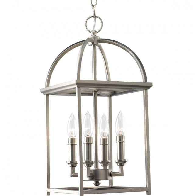 Pottery Barn Brushed Nickel Chandelier