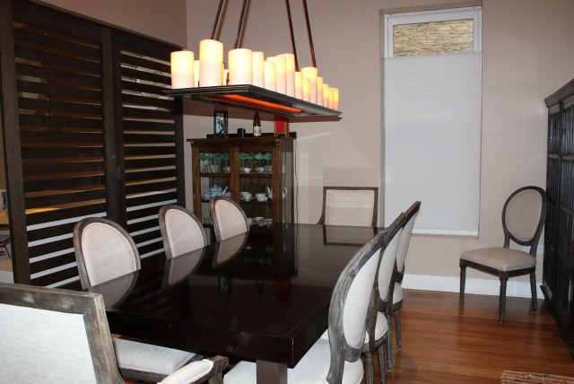 Rectangular Chandelier Dining Room