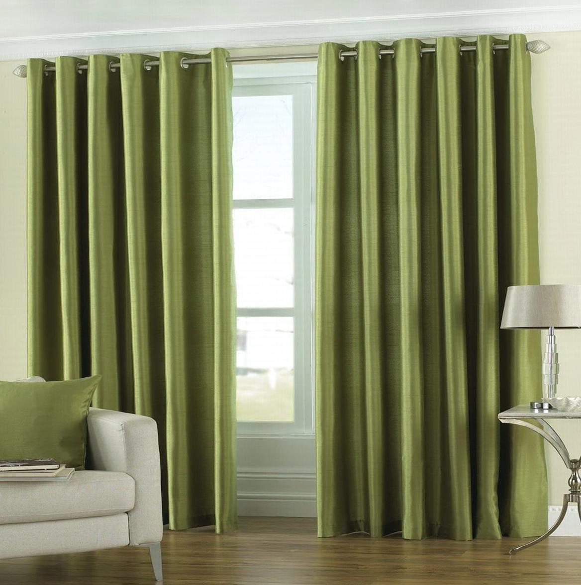 Sage Green Eyelet Curtains