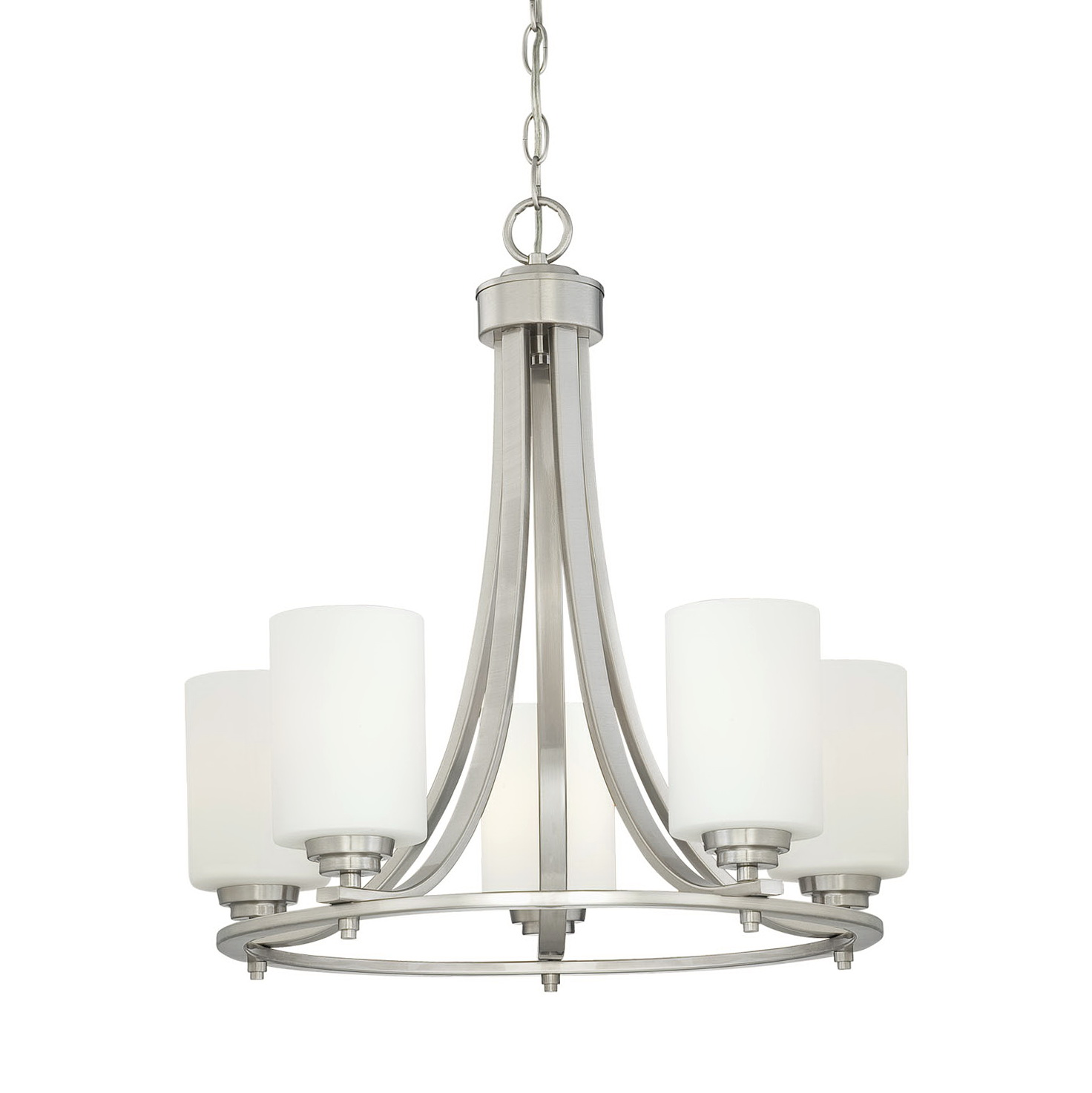 Satin Nickel Chandelier Lighting