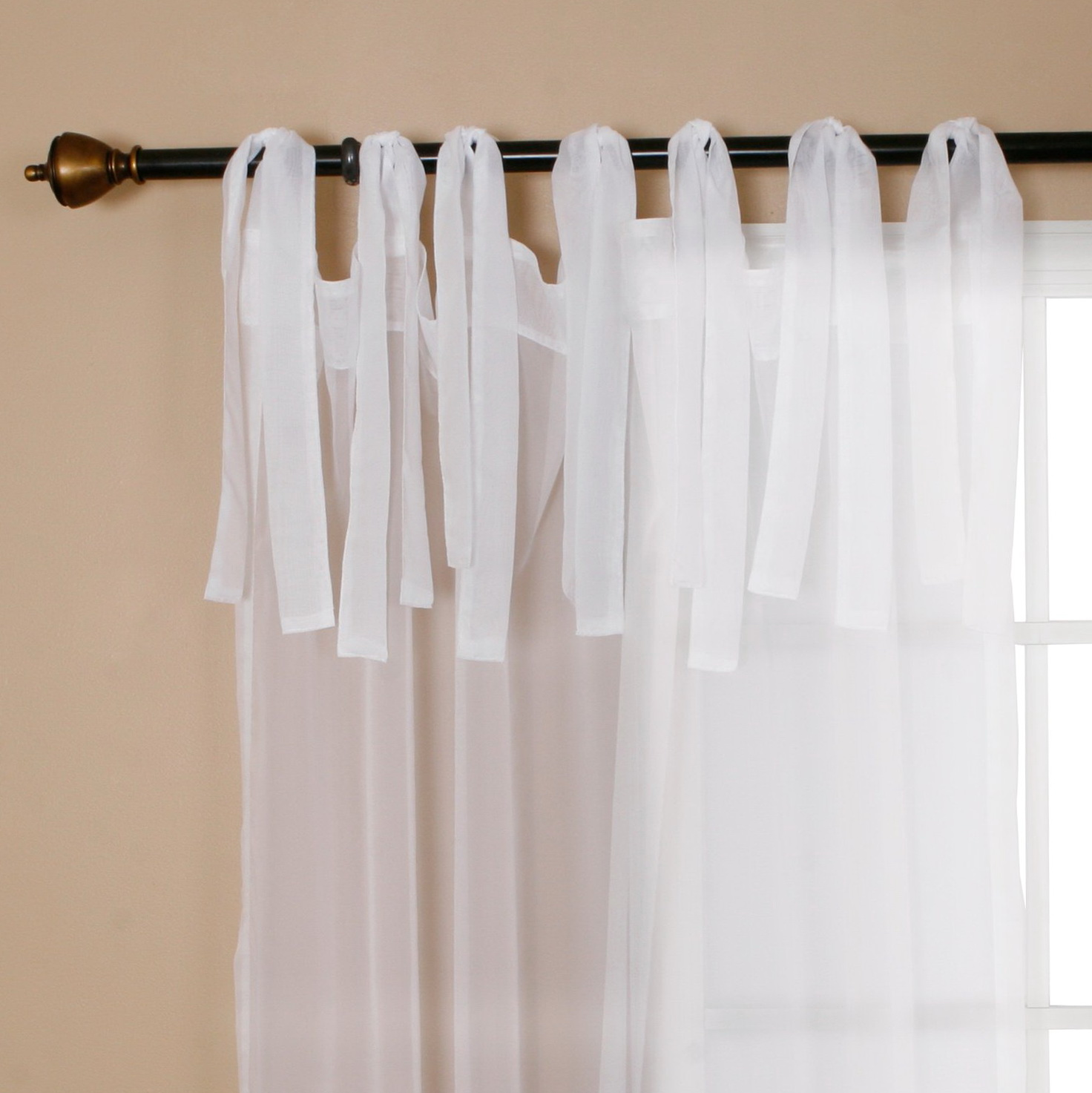 Sheer Tie Top Curtains
