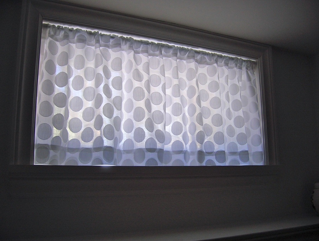 Small Basement Window Curtains