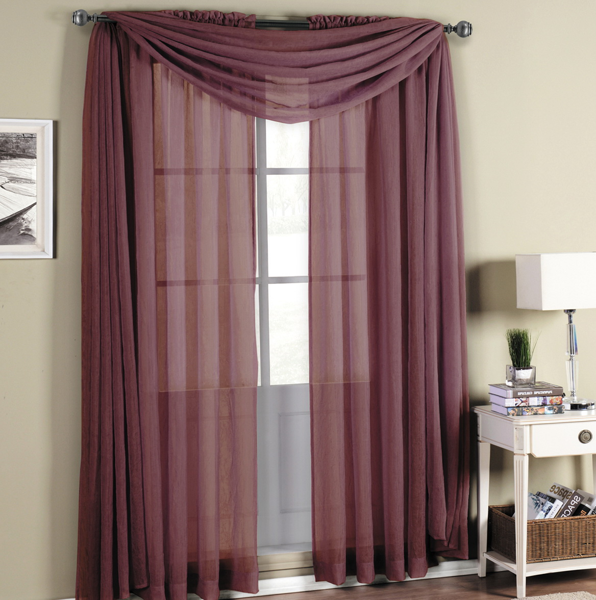 Tiffany Blue Sheer Curtains