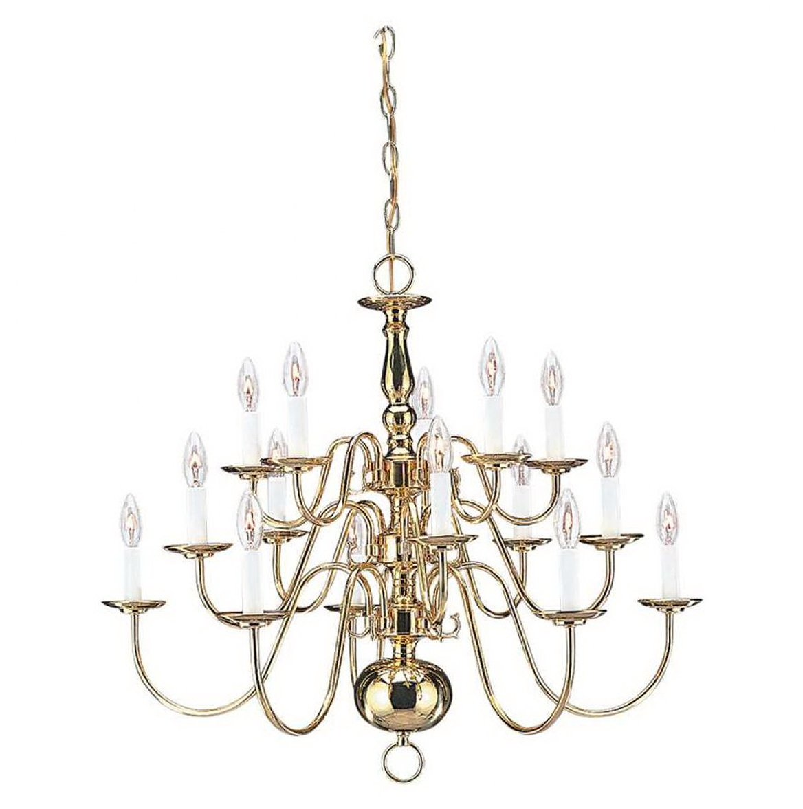 Traditional Polished Brass Chandeliers