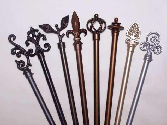Twisted Wrought Iron Curtain Rods