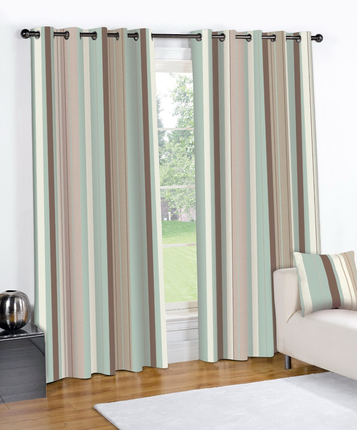 Vertical Striped Curtain Panels