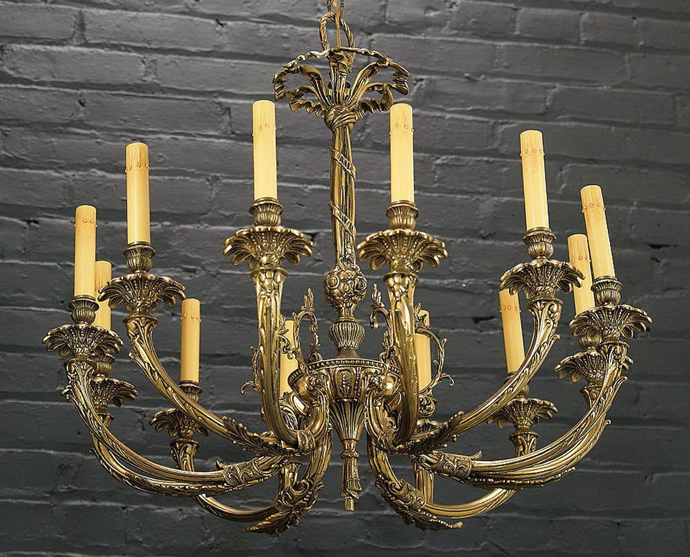Vintage Brass Chandelier Parts