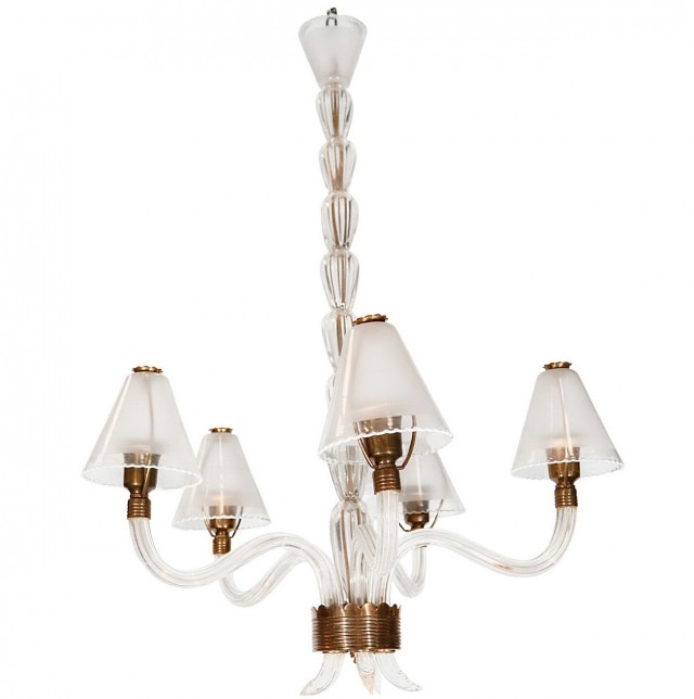Vintage Glass Chandelier Shades