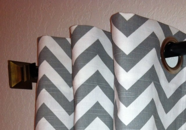 White And Gray Chevron Curtains