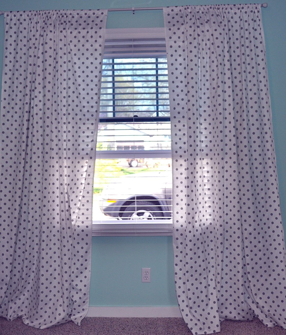 White And Gray Polka Dot Curtains