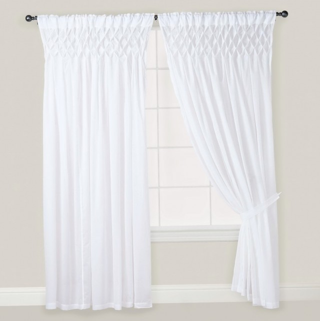 White Cotton Curtains 84