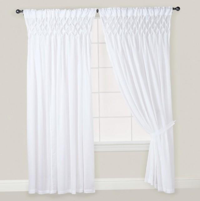 White Cotton Curtains 84