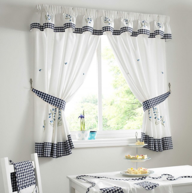White Cotton Curtains 96