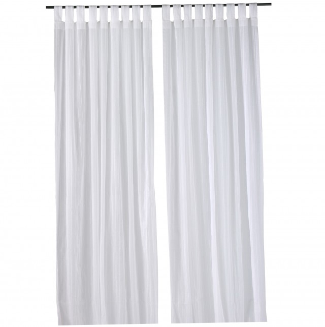 White Cotton Curtains Ikea
