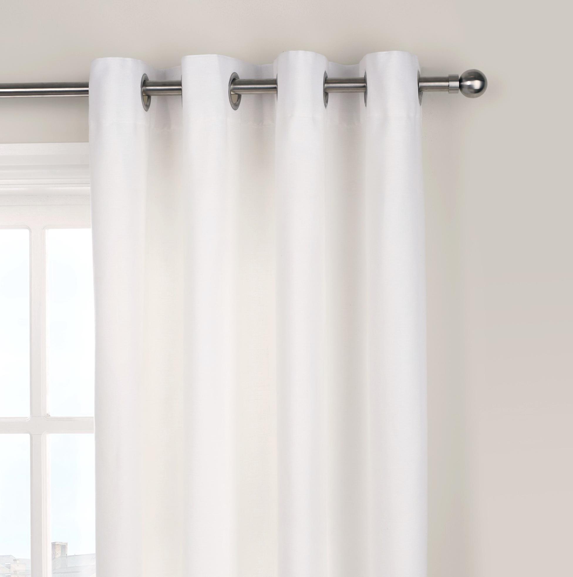 White Cotton Curtains Uk