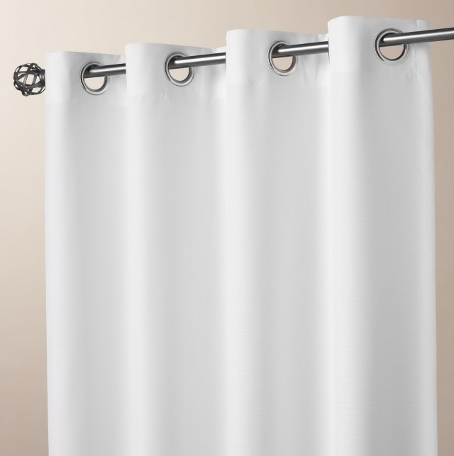 White Grommet Curtains 84