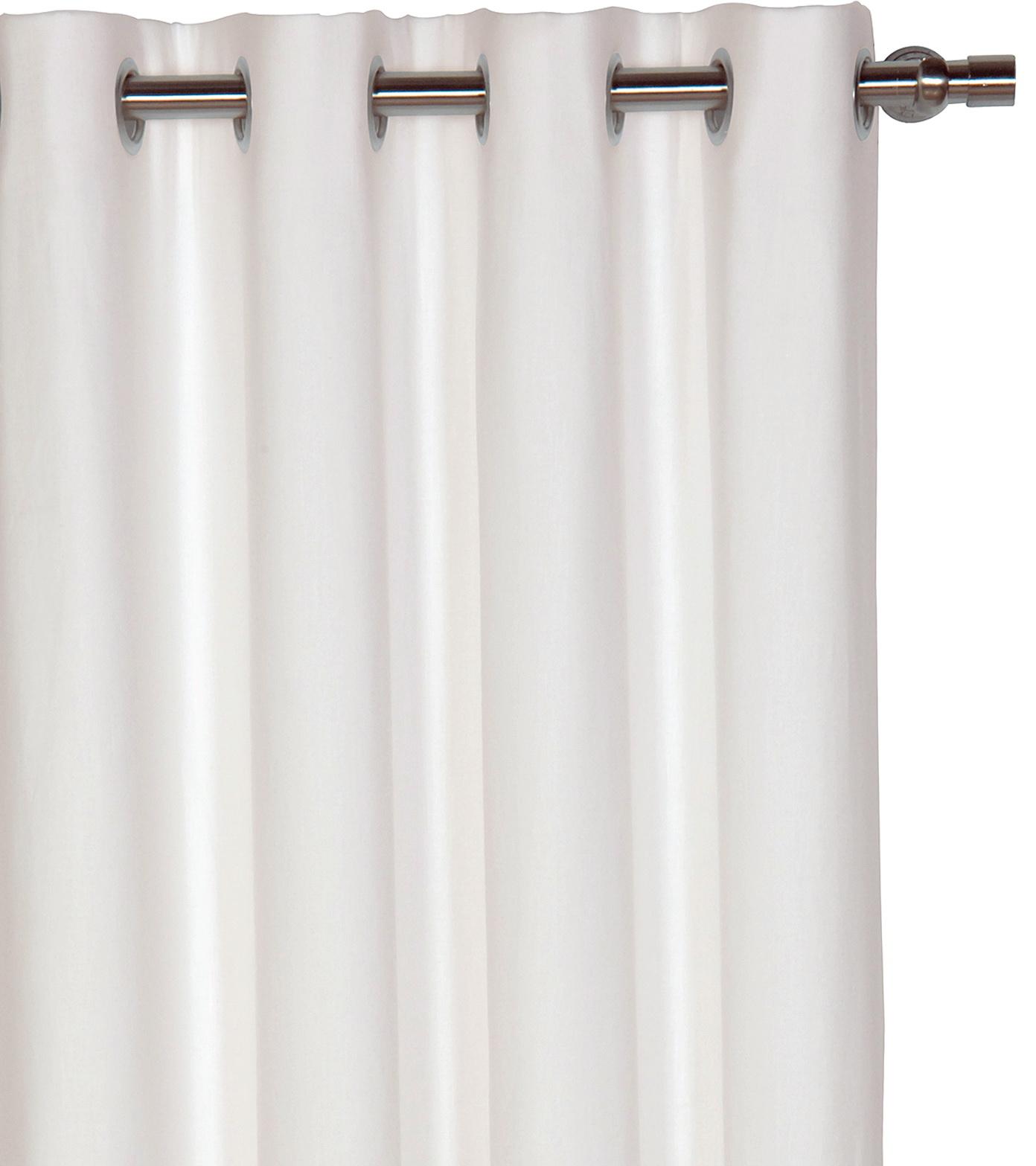 White Grommet Curtains Blackout
