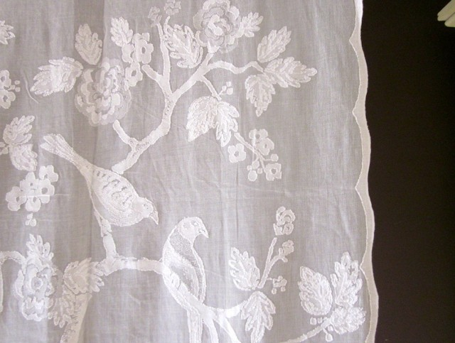 White Lace Curtain Panels
