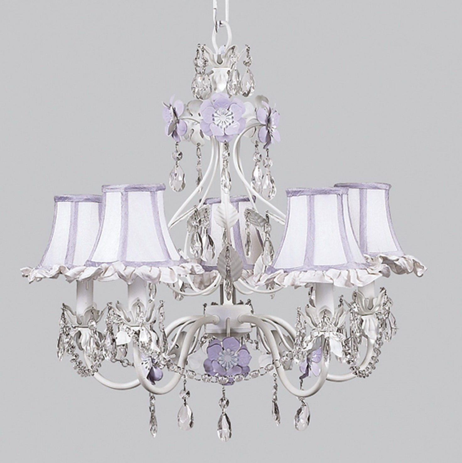 White Lamp Shade Chandelier