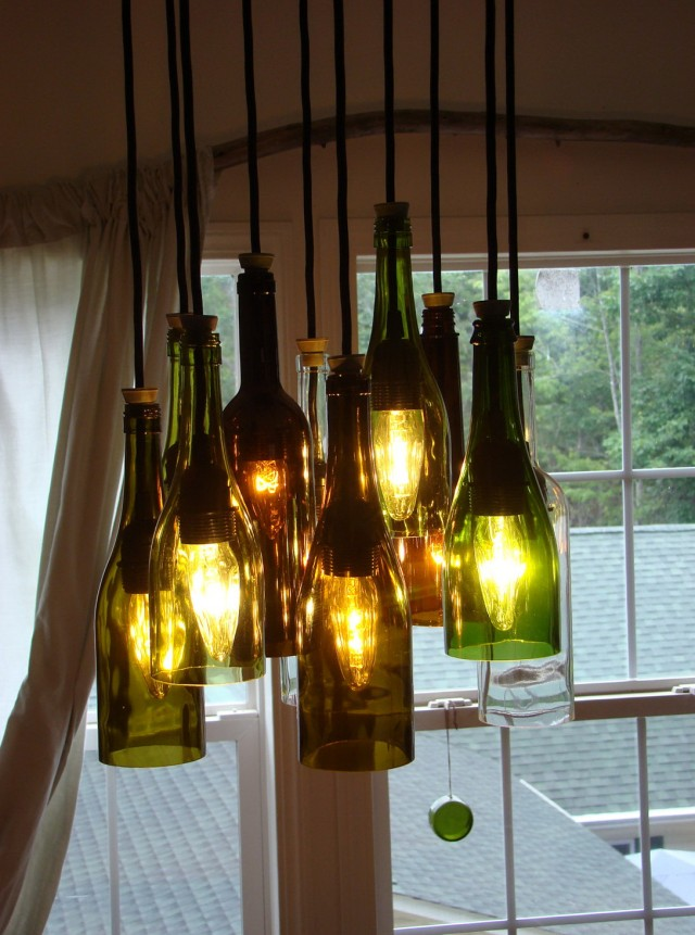 Wine Bottle Chandelier Diy