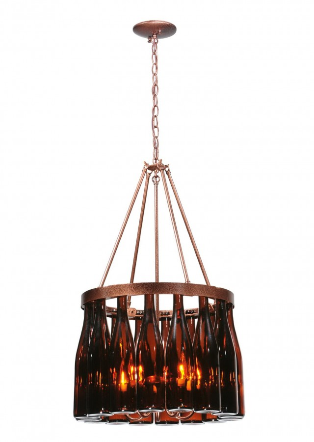 Wine Bottle Chandelier For Sale