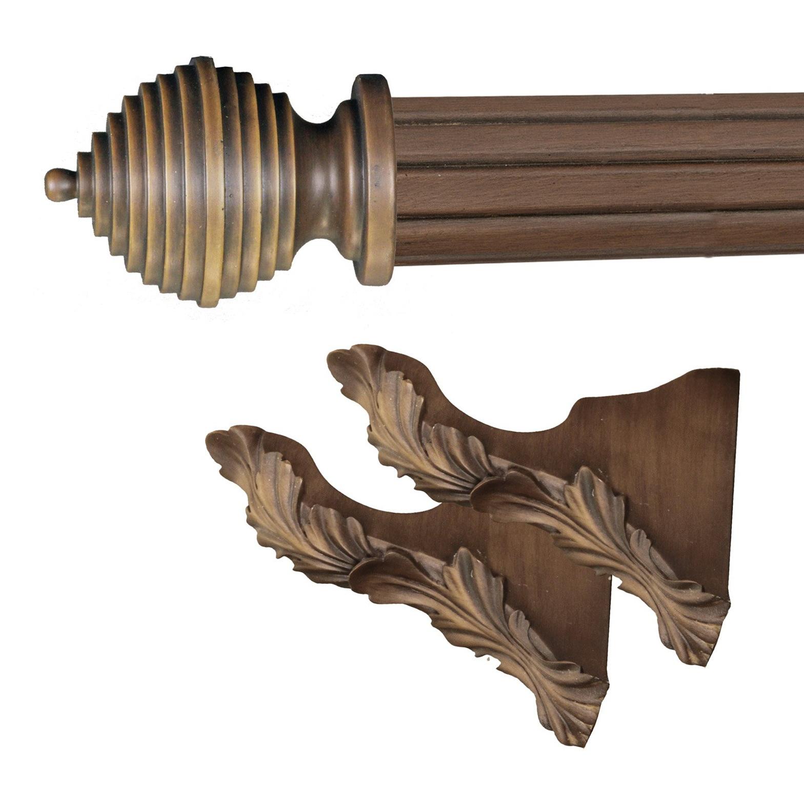 Wood Curtain Rod Brackets