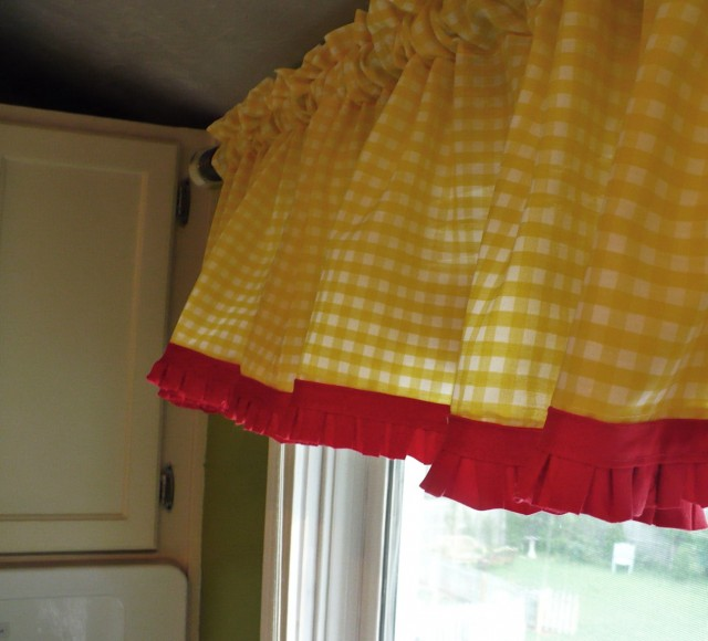 Yellow And Blue Kitchen Curtains