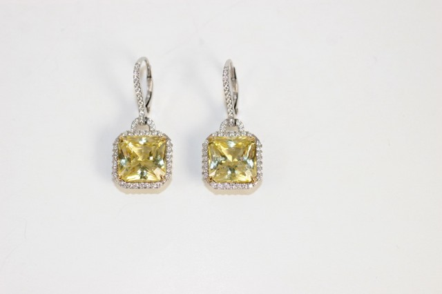 Yellow Diamond Chandelier Earrings