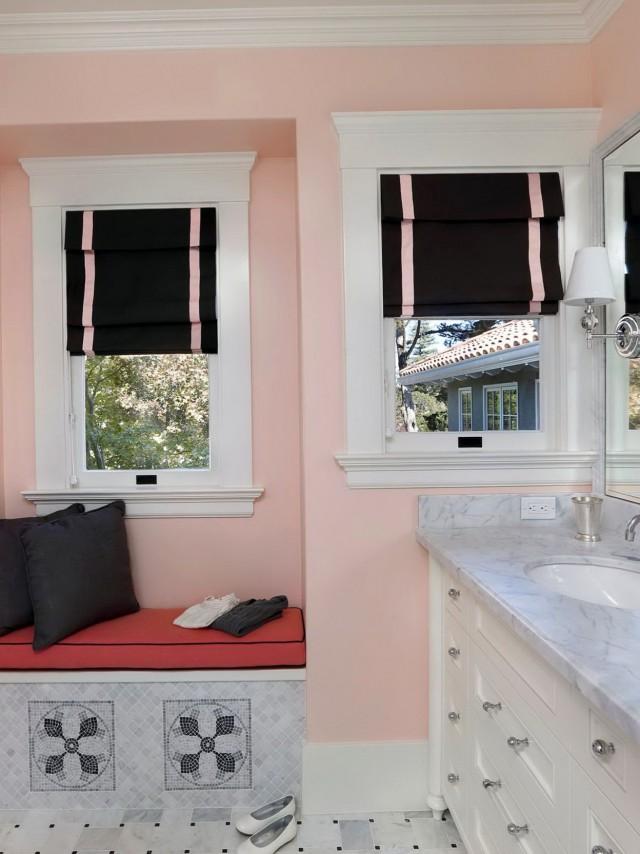 Black And White Bathroom Window Curtains