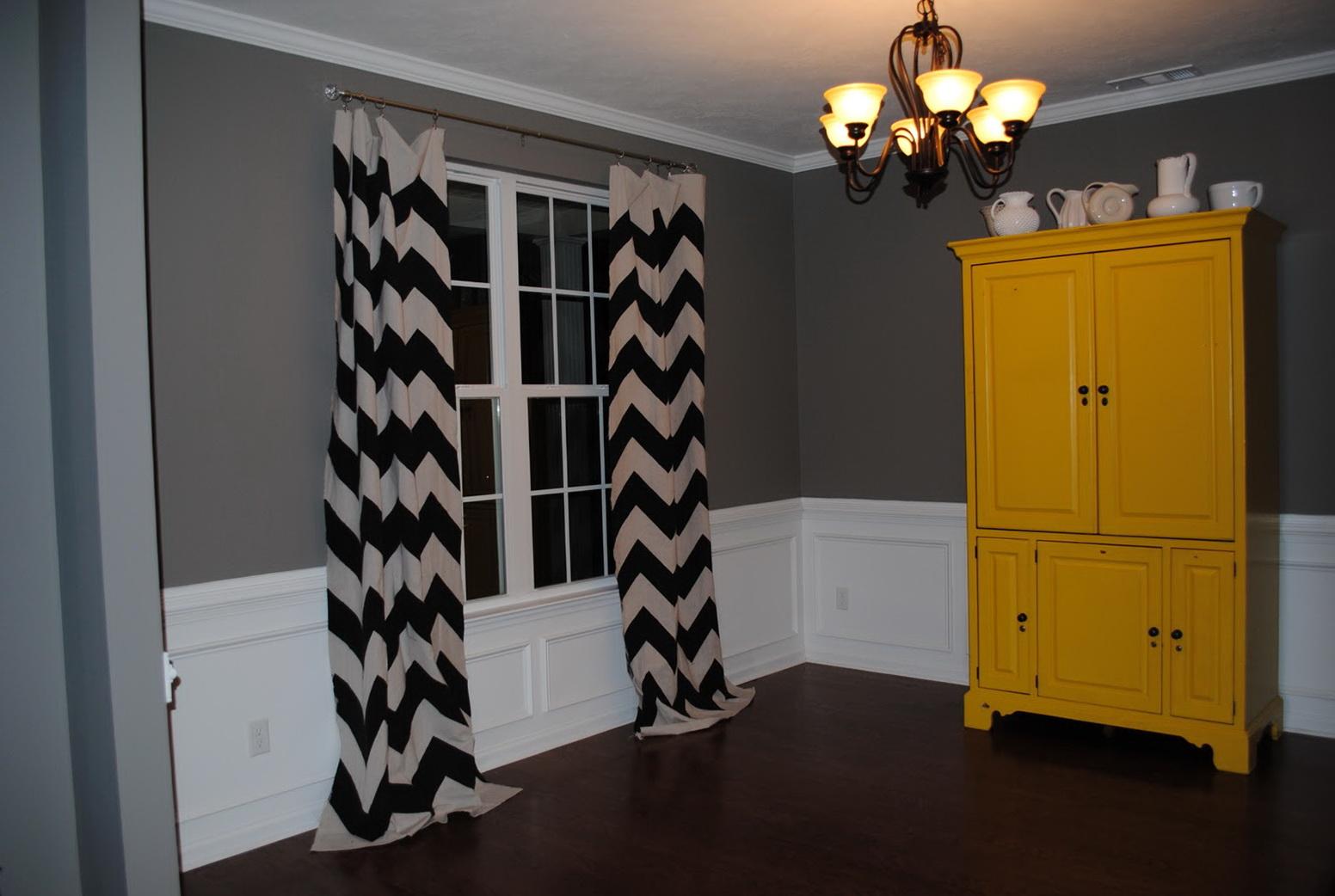 Black And White Chevron Curtains