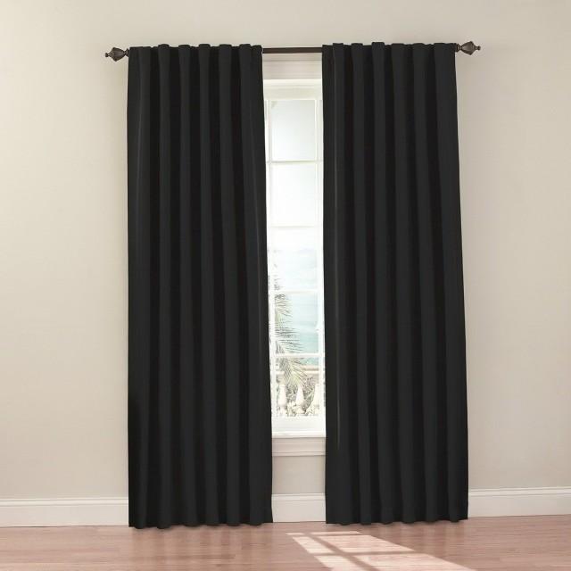 Black Blackout Curtains Amazon