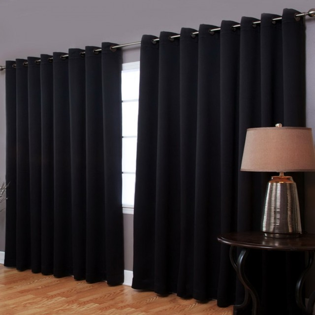 Black Blackout Curtains Grommet