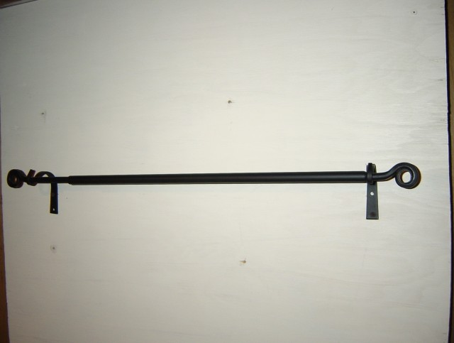 Black Iron Pipe Curtain Rod