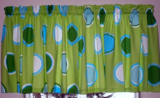 Blue And Lime Green Curtains