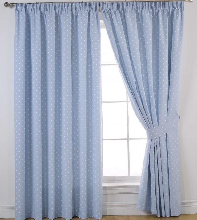 Blue And White Window Curtains