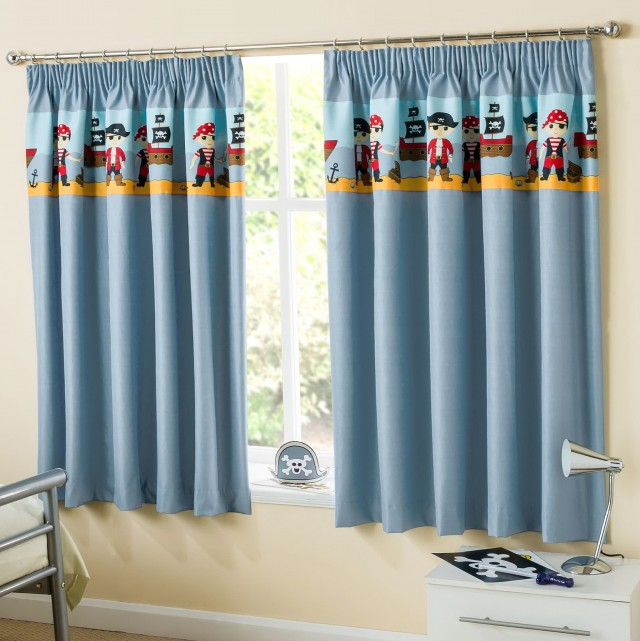 Blue Blackout Curtains Uk
