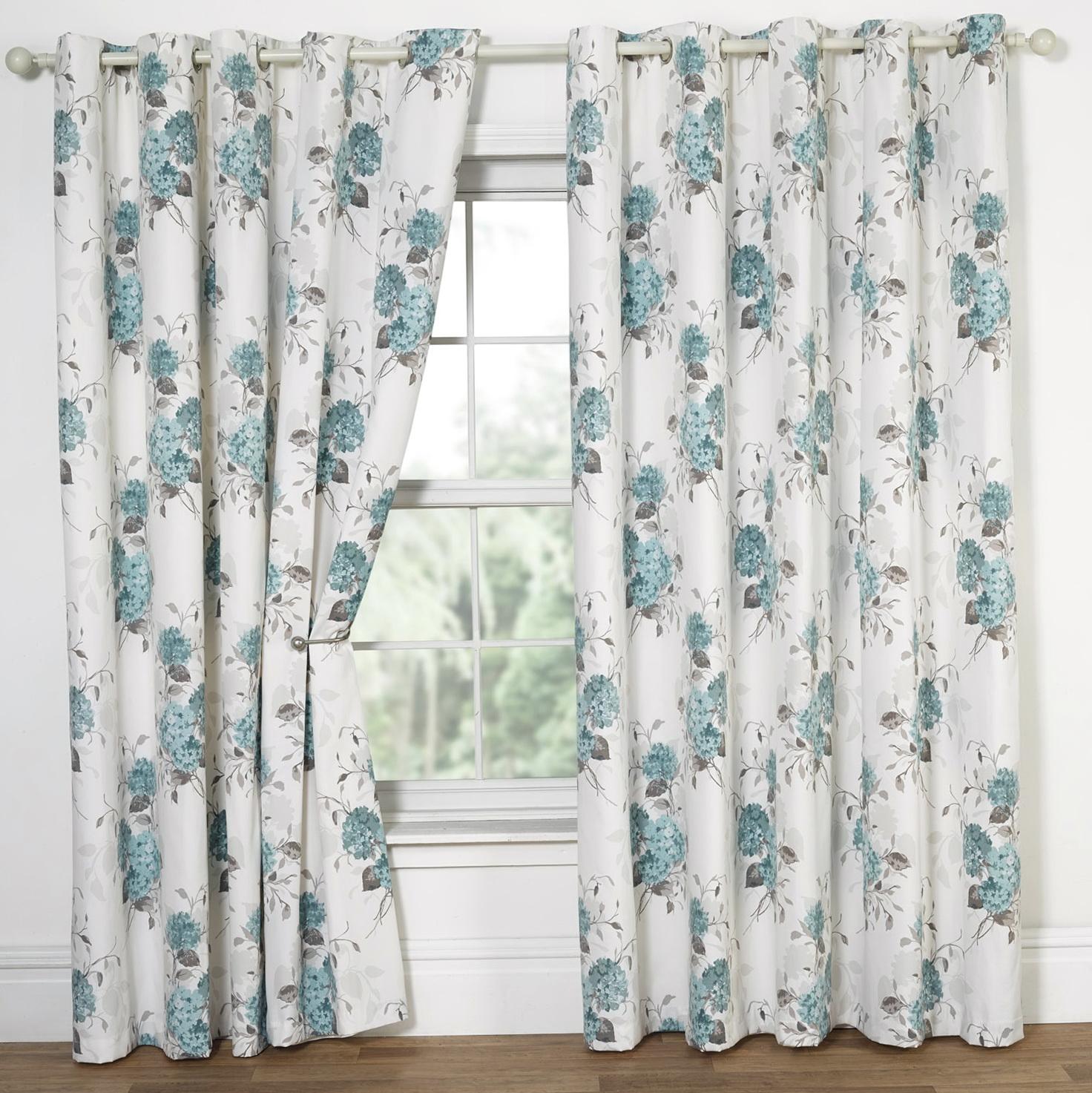 Blue Floral Curtains Uk