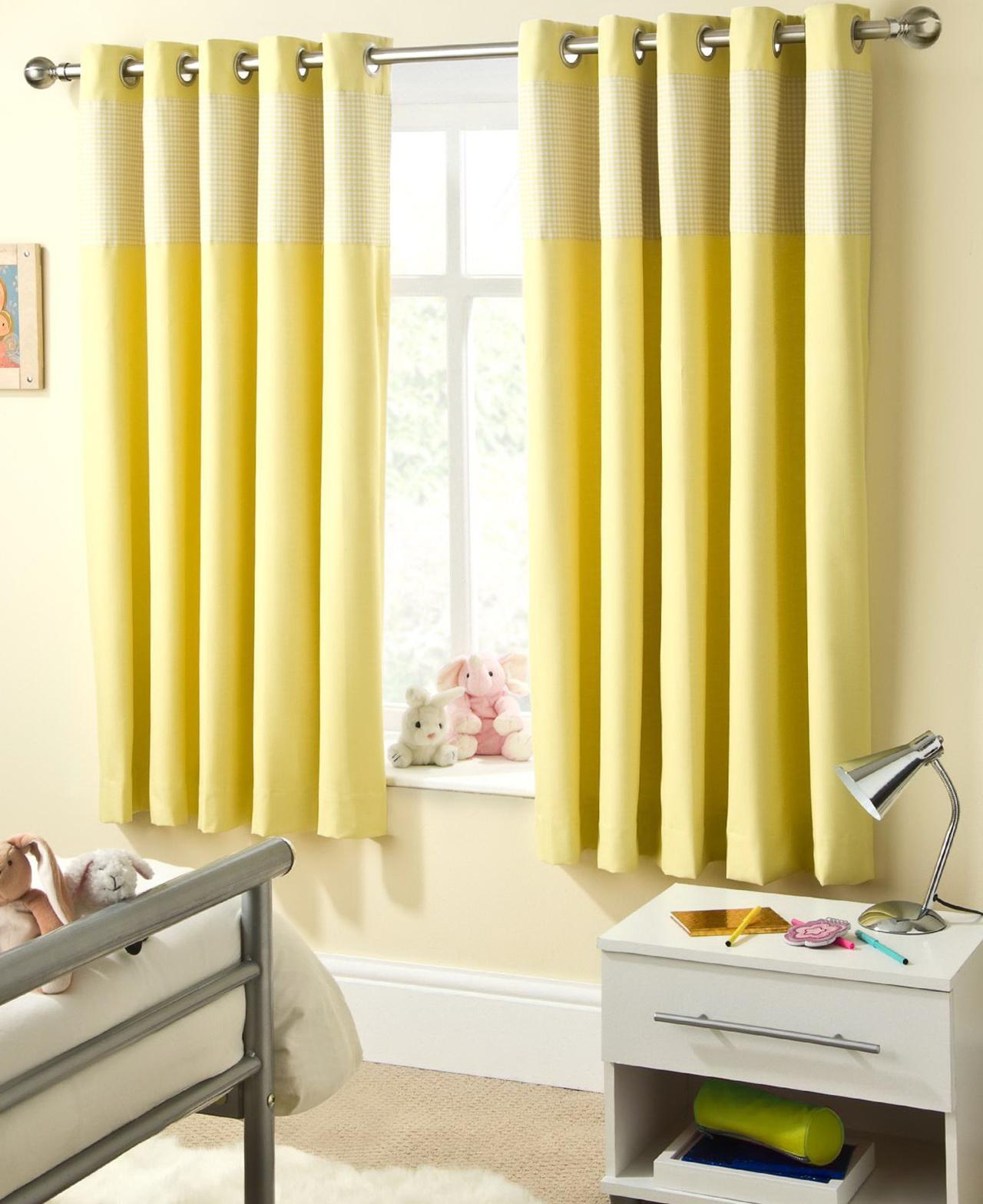 Bright Yellow Curtains Uk