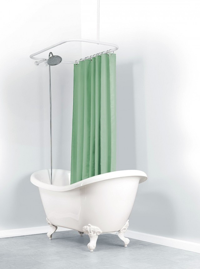 Ceiling Mount Shower Curtain Rod Clawfoot Tub