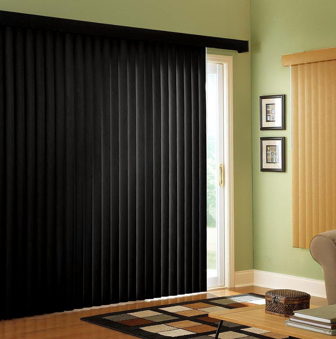Curtains Over Vertical Blinds Sliding Glass Doors