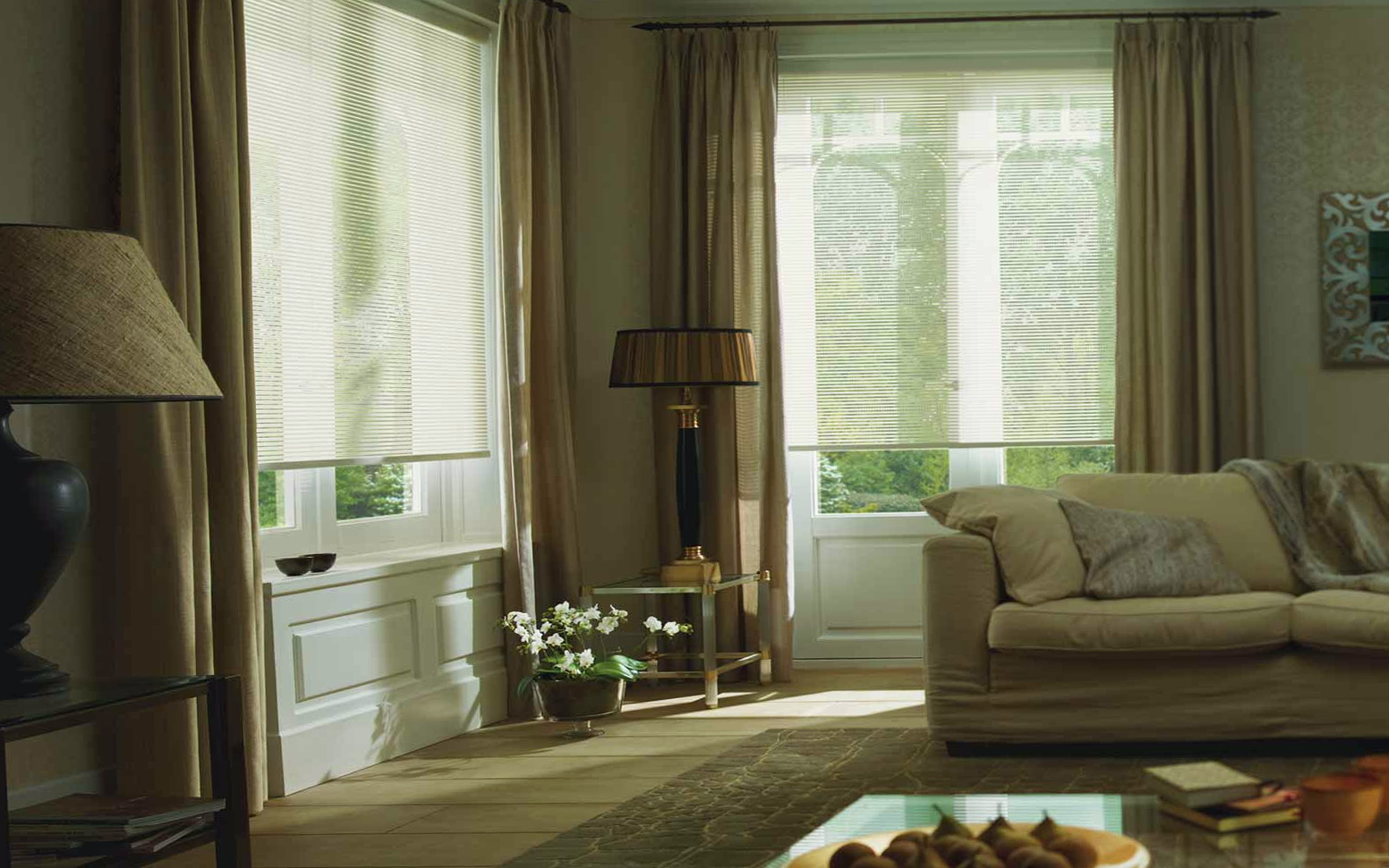 Curtains With Blinds Behind