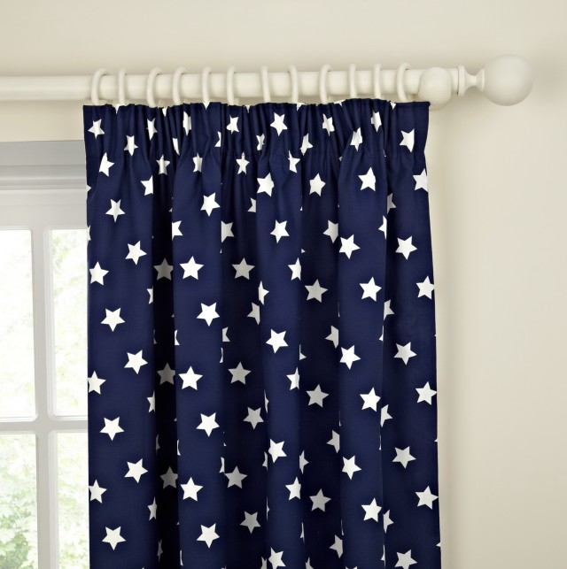 Dark Blue Blackout Curtains