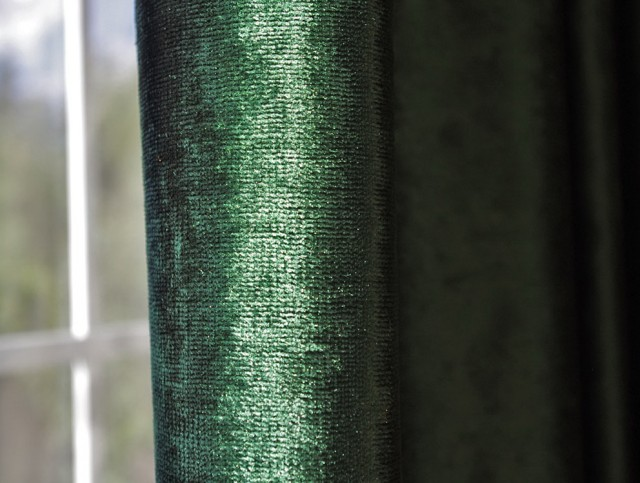Dark Green Blackout Curtains