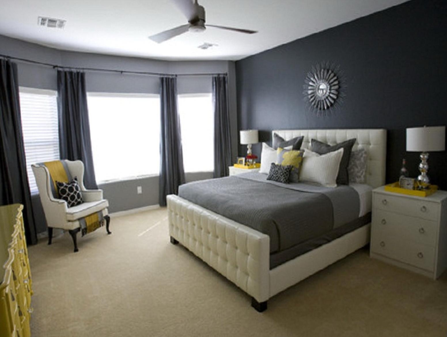 Dark Grey Curtains Bedroom