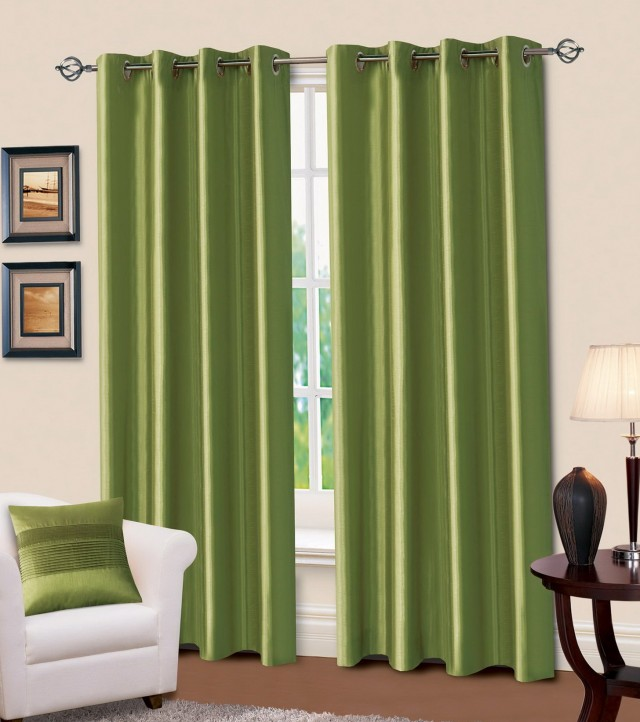 Dark Olive Green Curtains