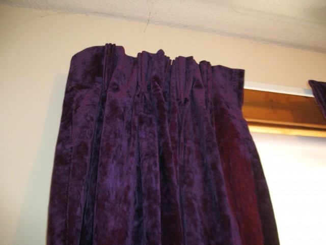 Dark Purple Velvet Curtains