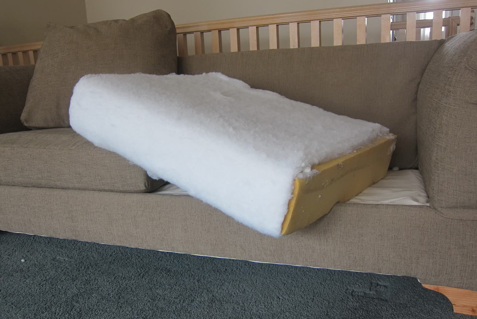 Diy Reupholster Couch Cushions